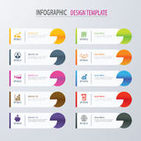 Modern tab index infographic options template with paper sheets. Vector element can be used for web design and workflow layout Royalty Free Stock Image