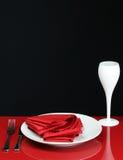 modern tabell för matställe Arkivfoton