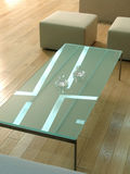 Modern table. From the glass Royalty Free Stock Photo