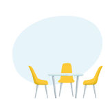 Modern table and chairs Stock Photo
