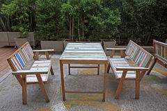 Modern table and chairs Stock Image
