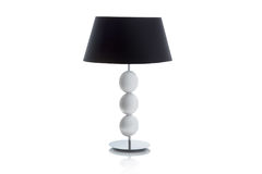Modern table lamp with small white lampshade Royalty Free Stock Images