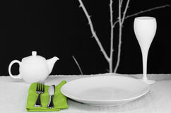 Modern Table Set Stock Photos