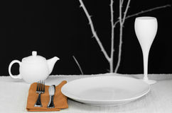 Modern Table Setting Royalty Free Stock Image