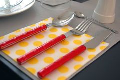 Modern Table Setting Stock Images