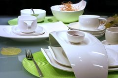 Modern table settings Royalty Free Stock Photography