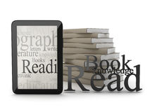 Modern tablet and books Royalty Free Stock Photo