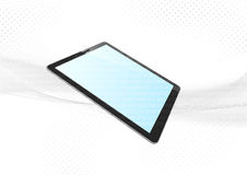 Modern tablet device electronic background Royalty Free Stock Image