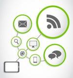 Modern tablet internet process group vector illustration