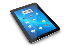 Modern tablet PC with interface Stock Photography