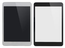 Modern tablet PC similar to ipad isolated with. Modern tablet PC black and white isolated with clipping path Royalty Free Stock Photography