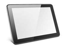 Modern tablet pc on white Royalty Free Stock Image