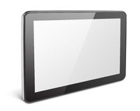 Modern tablet pc on white Stock Image