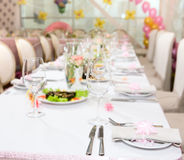Modern tableware Stock Photography