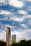 Modern tall apartment touch the sky Royalty Free Stock Photography