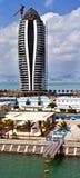 Modern tall building under construction in Sanya Stock Photo
