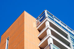 Modern tall buildings seen from below. Diminishing perspective Royalty Free Stock Image
