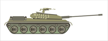 Modern tank Stock Image