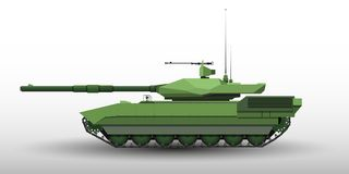 Modern tank illustration for different use-vector eps10.  Stock Image