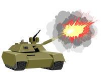 Modern tank shoots Stock Photos