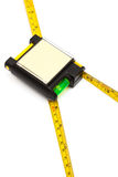 Modern tape measure with the level Royalty Free Stock Images