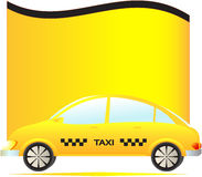 Modern taxi car with space for text Royalty Free Stock Photo
