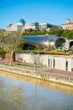 Modern Tbilisi tourists attractions, Georgia stock image