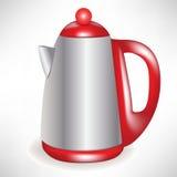 modern tea för kaffekettle Arkivbild