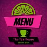 Modern Tea House Menu Card Design template Stock Photo