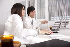 Modern team at the office Royalty Free Stock Photo