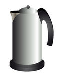 Modern teapot metallic Stock Photo