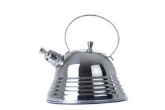 Modern teapot on a white background Royalty Free Stock Photo