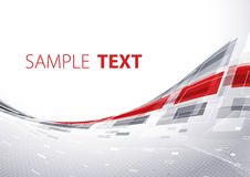 Modern tech shape. Gray and red tech template Royalty Free Stock Photo