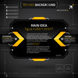 Modern techno background with main idea and two options. Stock Images
