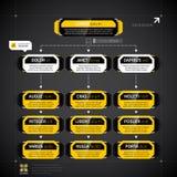 Modern techno organization chart template. Royalty Free Stock Image