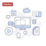 Modern technologies in action stock illustration