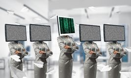 Modern technologies against old one. Stock Photo