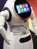 Modern technologies for the development of robot assistants. Smart robot for help around the house. Modern technologies for the development of robot assistants royalty free stock image