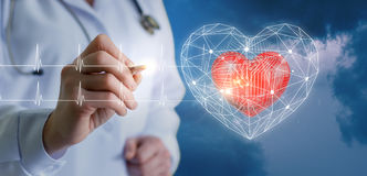 Modern technologies of diagnostics of the heart. Concepts of modern technologies of diagnostics of the heart Royalty Free Stock Photos