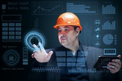 Modern technologies in engineering. Advanced technologies and technological processes of the future in the industry. Modern technologies in engineering Stock Image