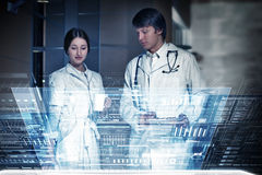 Modern technologies in medicine. Medicine doctor working with modern computer interface Royalty Free Stock Photo