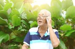 Asian senior man Stock Photos