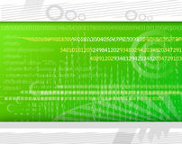 Modern technology background. Green technology background with numbers, abstract shapes and pattern vector illustration