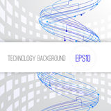 Modern technology background with swirl and Royalty Free Stock Image