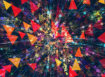 Modern technology backgrounds. Digital world multilayer backgrounds texture stock illustration