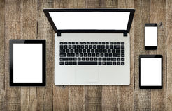 Modern technology device white screen Royalty Free Stock Photos