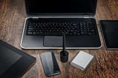 Modern technology devices Stock Image