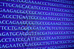 Modern technology: DNA sequencing. The letter symbols sequence of nucleotide bases in nucleic acids Royalty Free Stock Photography