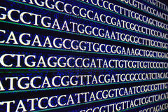 Modern technology: DNA sequencing. The letter symbols sequence of nucleotide bases in nucleic acids Stock Photos