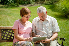 Modern technology in every age Royalty Free Stock Image